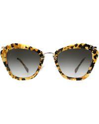 Miu Miu Noir Mu 10ns Dhf0a7 Sunglasses - Lyst