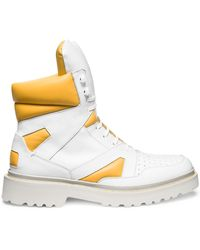 Calvin Klein Collection High Sneaker Boot white - Lyst