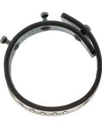 Rick Owens - Black Leather Stapled Low Bracelet - Lyst