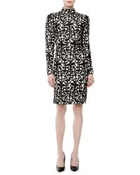 Versace Longsleeve Graphicprint Dress - Lyst