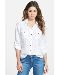 Kut From The Kloth Women'S 'Acacia' Roll Sleeve Shirt - Lyst