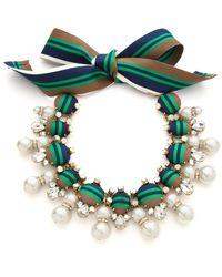 Tory Burch Insley Necklace Stripe Multiantique Bronze - Lyst