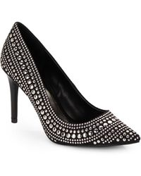 Enzo Angiolini Tannaz Studded Faux Suede Point Toe Pumps - Lyst