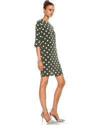 Equipment Aubrey Polka Dot Silk Dress - Lyst