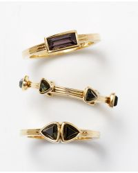 Ann Taylor Faceted Stone Ring Set - Lyst