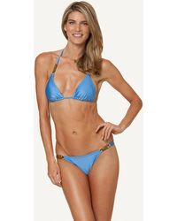 ViX Solid Malibu Triangle Top blue - Lyst