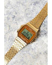 Timex® 80 Gold Digital Watch - Lyst