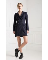 Temperley London Isaac Pinpoint Coat Dress blue - Lyst