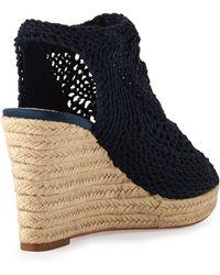 Vc Signature - Minerva Crochet Wedge Sandal - Lyst