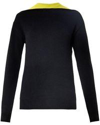 Alexander Wang Bicolour Wool Sweater - Lyst