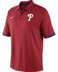 Nike Men'S Philadelphia Phillies Ac Dri-Fit Training Polo - Lyst