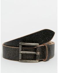 Racing Green - Leather Casual Belt - Lyst