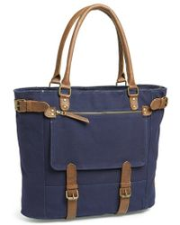 United By Blue Men'S 'Cameron' Organic Waxed Canvas Tote - Blue - Lyst