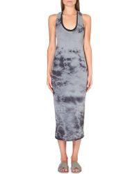 Enza Costa Tiedye Cottonjersey Dress Steel Grey  Ptantphant - Lyst