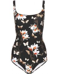 Givenchy - Floral Print Swimsuit - Lyst