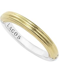 Lagos | Fluted Stacking Ring | Lyst