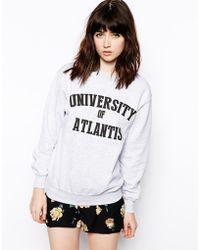 Asos Reclaimed University Of Atlantis Sweat - Lyst