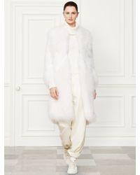 Ralph Lauren Collection Shearling Elizabeth Coat - Lyst