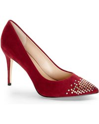 French Connection Burgundy Elka Pumps - Lyst