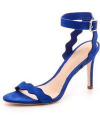Loeffler Randall Amelia Ankle Strap Sandals - Bright Blue - Lyst