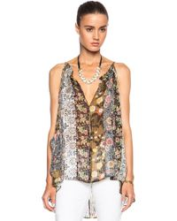 Isabel Marant Airy Colorblock Print Top - Lyst