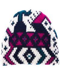 Tak.ori - Intarsia Knit Beanie Hat - Lyst