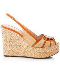 Sergio Rossi - Easy Puzzle Wedge Sandals - Lyst
