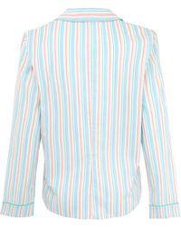 Princesse Tam-Tam - Green Charlotte Striped Pyjama Top - Lyst