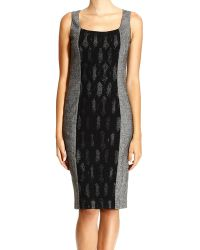 Frankie Morello Sheath Dress Sleeveless Barb with Lace - Lyst