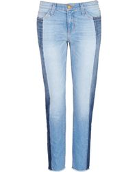 Current/Elliott | 'the Seamed Vintage Straight' Cropped Jeans | Lyst