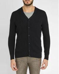 DIESEL | Black K-klay Double-collar Knit Cardigan | Lyst