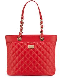 St. John - Quilted Leather Shoulder Tote Bag - Lyst
