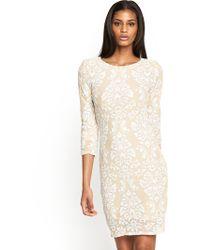 Tfnc Calla Sequin Baroque Midi Dress - Lyst