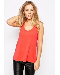 SuperTrash Topgun Tank With Ribbed Trim red - Lyst