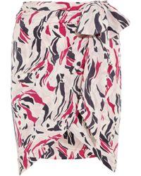 Isabel Marant Sonny Printed Silk Wrap Skirt - Lyst