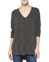 Autumn Cashmere Speckled Highlow Cashmere Sweater - Lyst