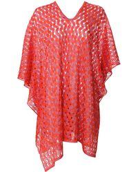 Missoni Knit Poncho red - Lyst