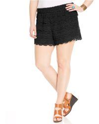 American Rag Plus Size Crochet Shorts - Lyst