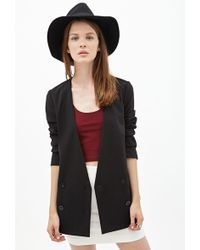 Forever 21 Collarless Double-Breasted Blazer - Lyst