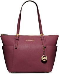 Michael by Michael Kors Jet Set East West Leather Tote Bag - Lyst