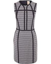 O'2nd - Navy Panel Print Sleeveless Dress - Lyst