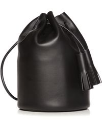 Building Block Smooth Leather Bucket Bag - Lyst
