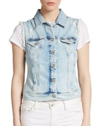 Mavi Jeans - Jodi Frayed Denim Vest - Lyst