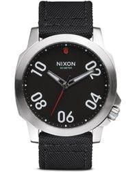 Nixon 'Ranger 45 Nylon' Watch black - Lyst