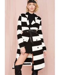 Nasty Gal Show Your Stripes Trench - Lyst