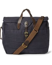 J.Crew   Abingdon Waxed Cotton-Canvas And Leather Laptop Bag   Lyst