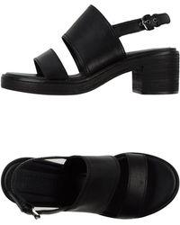 Jil Sander Navy Sandals - Lyst