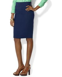 Lauren by Ralph Lauren Linen Pencil Skirt - Lyst