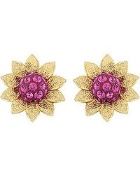 Swarovski Bloom Pierced Earrings - Lyst