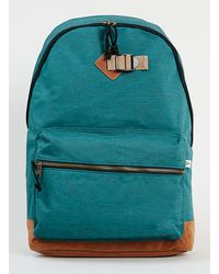 Topman Green Melange Backpack - Lyst